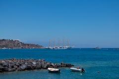 L'Italie, Sicile Vue de belle mer ionienne photo libre de droits