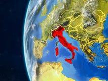 L'Italie sur le globe de l'espace illustration stock