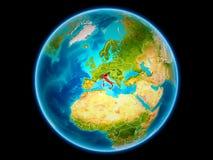 L'Italie sur terre de l'espace illustration stock