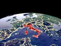 L'Italie sur terre de l'espace illustration libre de droits