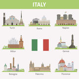 L'Italie. Symboles des villes