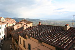 l'Italie, Toscane, Cortona Photo stock
