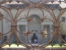 L'Italie, Toscane, Florence, la porte de l'église de Santa Croce Images libres de droits