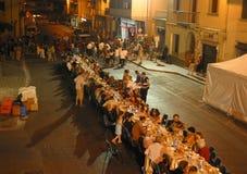 L'Italie, Toscane, Florence, le Bagno un village de Ripoli, dîner pour la route Photos libres de droits
