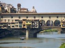 L'Italie, Toscane, Florence, rivière de l'Arno Photo libre de droits
