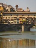 L'Italie, Toscane, Florence, rivière de l'Arno Photos stock