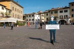 L'Italie, Toscane, la province de Florence, Greve dans le chianti, la place images libres de droits
