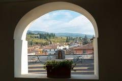 L'Italie, Toscane, province de Florence, Greve dans le chianti, vue de La valle photo stock