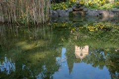 L'Italie, Vérone, parc de sigurta, l'église Image stock