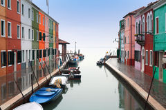 l'Italie, Venise : Île de Burano Images stock