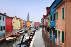l'Italie, Venise : Île de Burano Image libre de droits