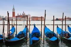 l'Italie, Venise : gondoles Image stock