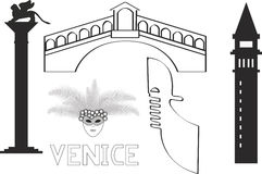 L'Italie Venise Venezia Illustration de Vecteur