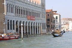 l'Italie Venise Vue de ville gondole Photographie stock libre de droits