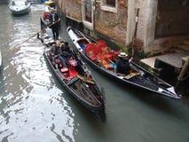 l'Italie Venise Vue de ville Gondoles Photos stock