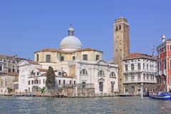 l'Italie Venise Vue de ville Tour d'église et de cloche Image libre de droits