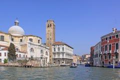 l'Italie Venise Vue de ville Tour d'église et de cloche Image stock