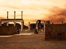 L'Italie, ville de Naples, Mt le Vésuve Photo libre de droits