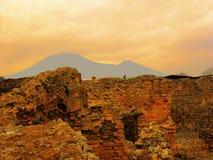 L'Italie, ville de visite de Naples, Mt le Vésuve image stock