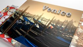L'Italie visitant le pays dans la présentation comme des photos d'ensemble Image libre de droits