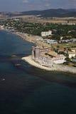 l'Italie, vue aérienne de la côte tirrenian photos stock