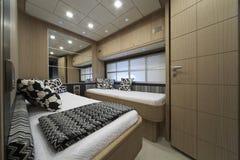 l'Italie, yacht de luxe, chambre à coucher d'invités, Images libres de droits