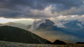 L'itinéraire extraordinaire autour de l'EL Pedraforca Photo stock