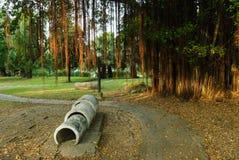 L'itinéraire marche en parc public Image libre de droits