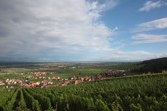 L'itinerario 2 del vino dell'Alsazia Fotografia Stock Libera da Diritti
