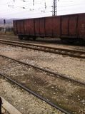 L'itinerario bosniaco della stazione ferroviaria fotografie stock
