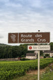 L'itinerario del vino firma dentro la Francia Fotografia Stock