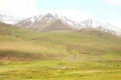 L'itinerario di bello scenico da BiÅ¡kek alla città di Naryn del Kirghizistan immagini stock libere da diritti