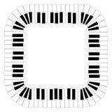 L'ivoire blanc et les clés noires d'un piano Images libres de droits