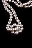 L'ivoire perle le collier Photographie stock