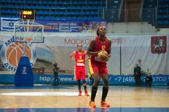 L. Jackson (12) on free throw Royalty Free Stock Images