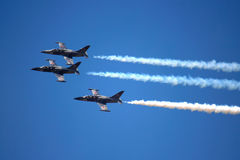L-39 Jets in Formation stock photography