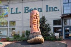 L.L. Commerce au détail d'haricot au port franc, Maine, Etats-Unis Photographie stock