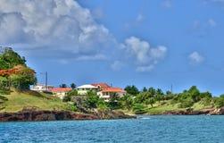 L'île pittoresque de la Sainte-Lucie dans les Antilles Images libres de droits