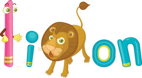 L for lion. Illustration of l for lion Royalty Free Stock Image