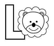 L is for Lion Royalty Free Stock Image