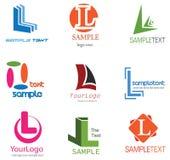 l listowy logo Zdjęcia Stock