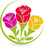 Lá logotipo das rosas Imagem de Stock Royalty Free