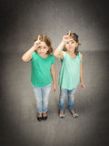 L for losers children Stock Image