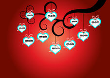 L love mom. Happy mothers day and heart. vector stock illustration