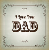 L love you dad stock illustration