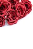 L mazzo delle rose rosse su un fondo bianco Fotografia Stock Libera da Diritti