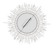 ?l?ment abstrait de conception dans le style de constructivisme Signe abstrait de Minimalistic illustration de vecteur