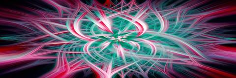 ?l?ment abstrait de fond Concept de technologie informatique Multicolore sur le noir Fond panoramique illustration libre de droits