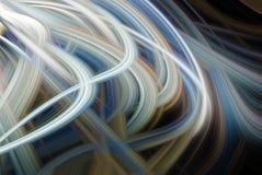 ?l?ment abstrait de fond Mod?le gris et bleu dynamique de courbes Concept de la science et technologie illustration de vecteur