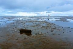L$mer des Wadden de parc national de marée de reflux basse-saxe Allemagne, l'Europe Photos libres de droits
